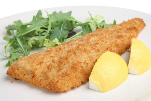 breaded yellowfin sole